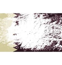 Qatar flag Grunge background vector image