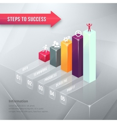 Road to Success Business Chart Infographic Element vector