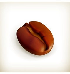 Roasted coffee bean vector image