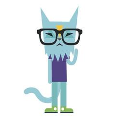 scientific cat vector image