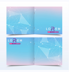 Scientific templates square brochure magazine vector