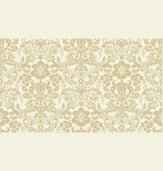 Seamless damask pattern golden and ivory image vector