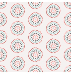 Seamless pattern with concentric circles vector image