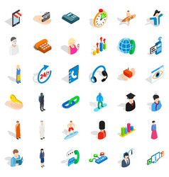 Searching icons set isometric style vector