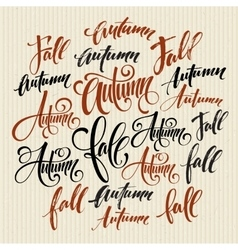 Season style lettering Calligraphy graphic design vector image