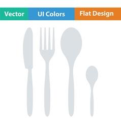 Silverware set icon vector
