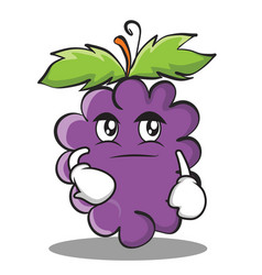 smirking grape character cartoon collection vector image vector image