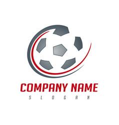 soccer ball logo vector image