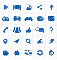 Social media icons for website vector image