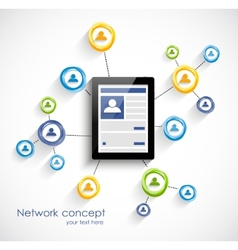 Social network background vector