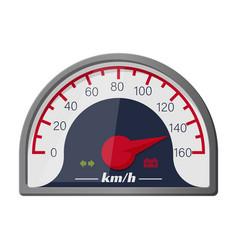 speedometer iconcartoon icon vector image