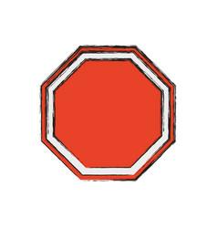 Stop sign empty blank vector