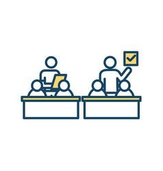 Students examination rgb color icon vector