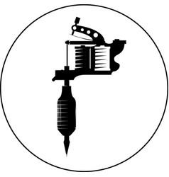 tattoo gun machine icon eps 10 ink vector image