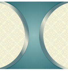 Template with Ornamental Pattern vector image
