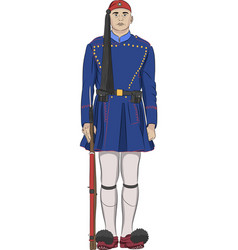 the soldier evzone vector image