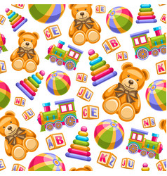 toys seamless pattern vector image