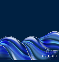 trendy abctract colorful flow poster baner vector image