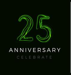 Twenty five fifth anniversary poster vector