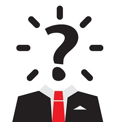 Unknown Man with Question Mark Instead of Head vector image