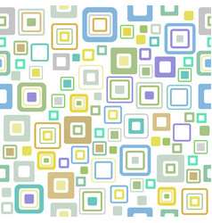 vintage pattern style of the fifties vector image