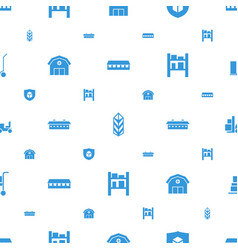 Warehouse icons pattern seamless white background vector