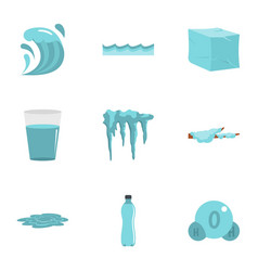 water condition icon set flat style vector image