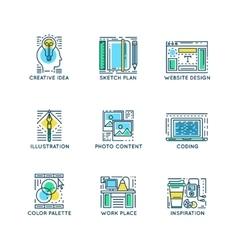 Web Design Linear Symbols vector