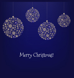 xmas card with christmas ball and star vector image