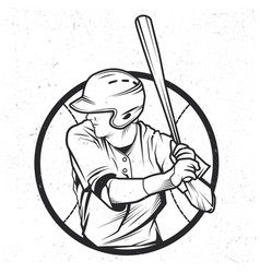 baseball t-shirt label design vector image vector image