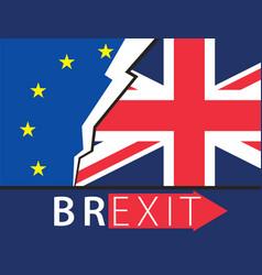 brexit great britain leaving eu vector image vector image