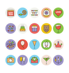 Celebration and Party Icons 1 vector image vector image