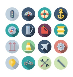 Flat Design Icons For Transportation vector image vector image