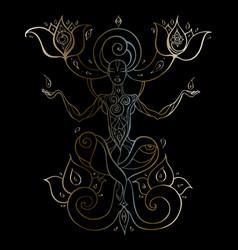 meditation yoga silhouette vector image vector image
