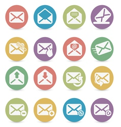 set of mail icons vector image
