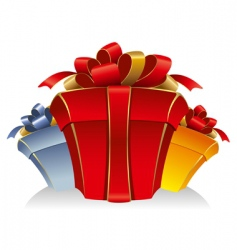 three cardboard gift box vector image vector image