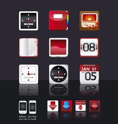 apps icon set tablet mobile phone apps vector image