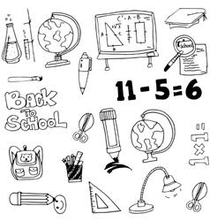 Education toool set in doodle vector