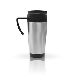 realistic 3d model of thermos cup vector image