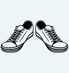 Vintage shoes vector image vector image