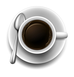 A topview of a cup of coffee vector image vector image