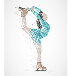 abstraction skating athlete vector image