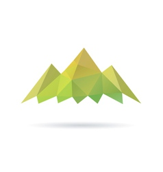 Green mountain abstract isolated vector image vector image