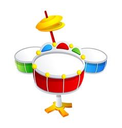 icon drum vector image vector image