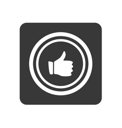quality control icon with thumb up sign vector image vector image