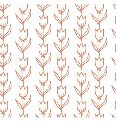 seamless pattern with tulips backdrop Endless vector image