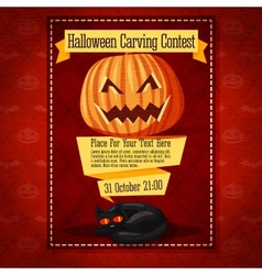 Banner for carving contest or invitation to the vector