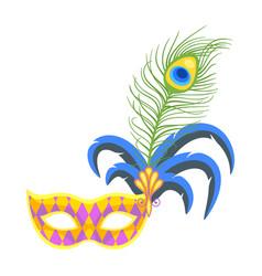 mardi gras colorful holiday mask vector image