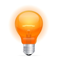 red light bulb isolated on white vector image vector image