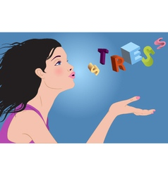 Reducing stress vector image